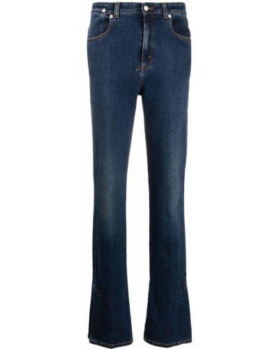 Джинсовые джинсы клеш на шпильке с завышенной талией Alexander Mcqueen
