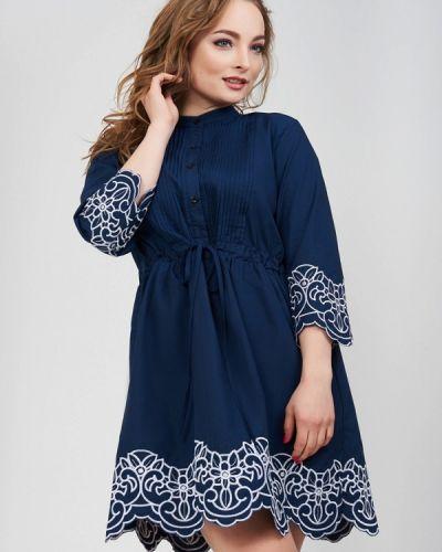 Синее платье весеннее Olko