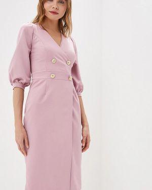 Платье розовое с запахом Bezko