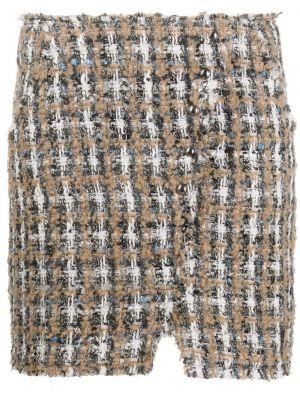 Spódnica mini wełniana w kratę Iro