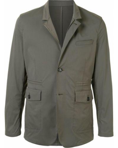 Зеленый классический однобортный классический пиджак на пуговицах Kent & Curwen