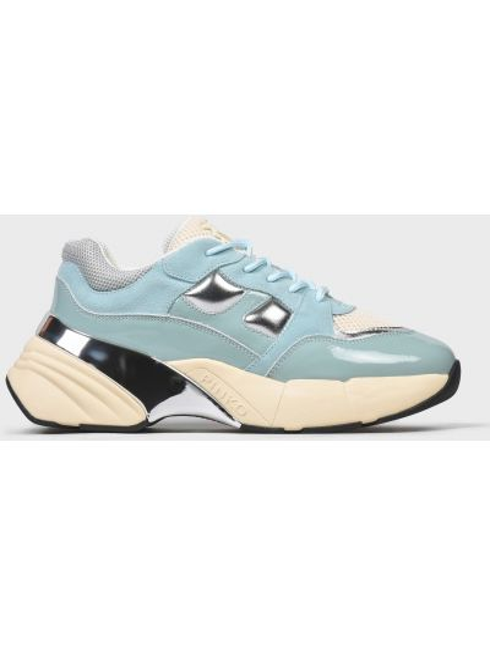 Кожаные кроссовки - голубые Pinko