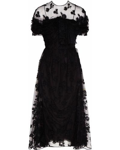 Платье миди коктейльное с длинными рукавами Prada