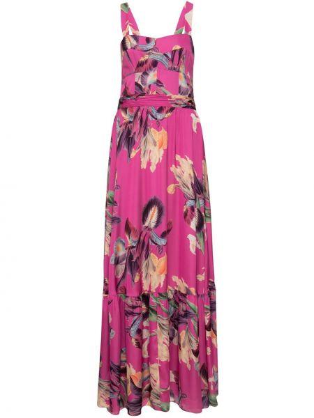Розовое платье без рукавов с вырезом на молнии Patbo