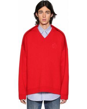 Sweter oversize z haftem bawełniany Balenciaga