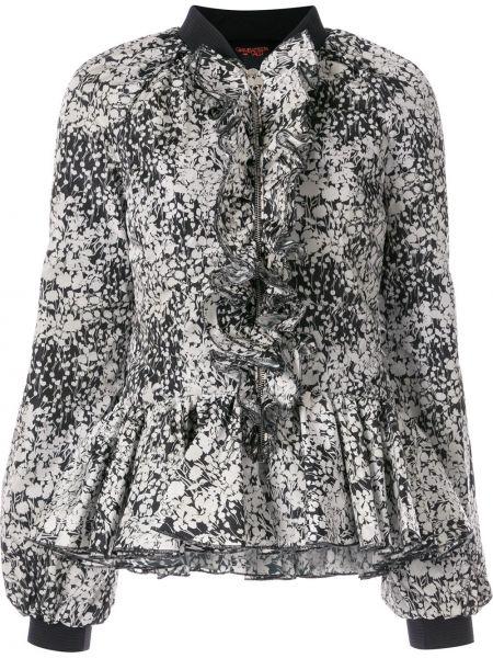 Блузка с принтом - черная Giambattista Valli