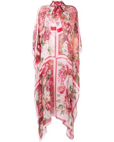 Кафтан свободного кроя розовый Dolce & Gabbana