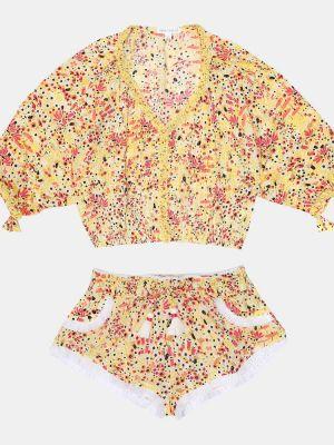 Żółty bluzka z wiskozy Poupette St Barth Kids