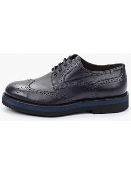 Синие кожаные туфли F.lli Rennella