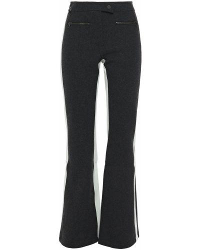 Spodnie w paski wełniane rozkloszowane Erin Snow