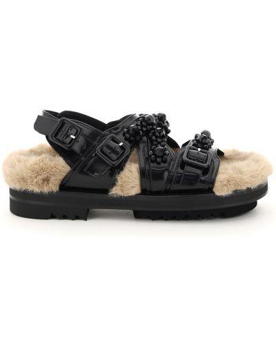 Czarne sandały Simone Rocha