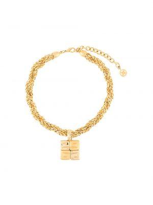 Ожерелье золотое с подвесками металлическое Givenchy Pre-owned