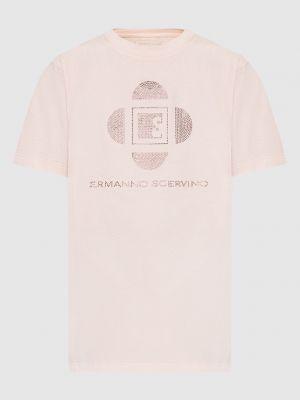 Розовая футболка Ermanno Scervino