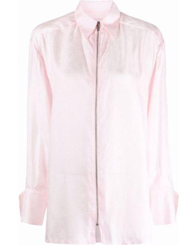 Koszula z jedwabiu - różowa Givenchy