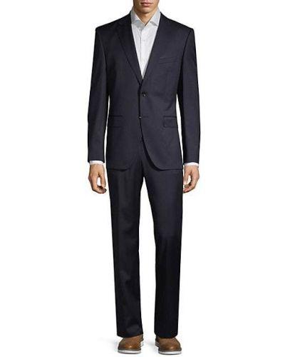 Костюмный шерстяной костюм классический с манжетами Boss Hugo Boss