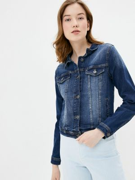 Джинсовая куртка весенняя синий Ichi