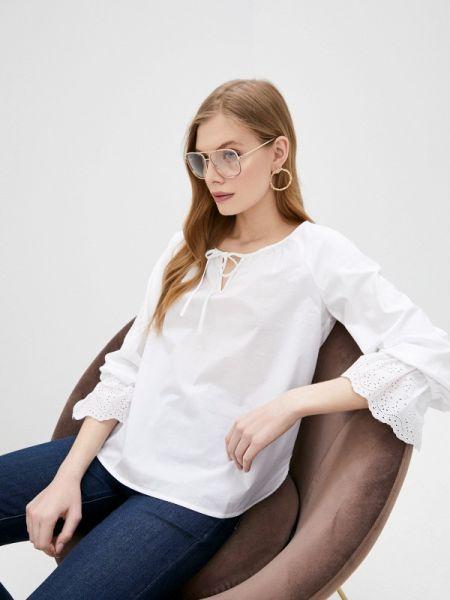 Белая блузка с длинным рукавом Pennyblack
