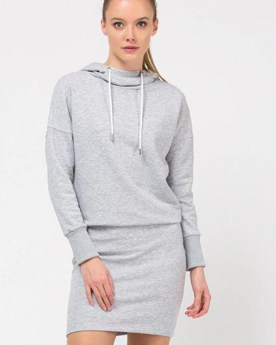 Платье серое платье-толстовка Remix