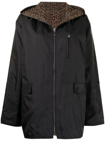 Черная куртка с капюшоном на молнии Fendi Pre-owned