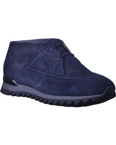 Кожаные ботинки замшевые осенние Alberto Guardiani