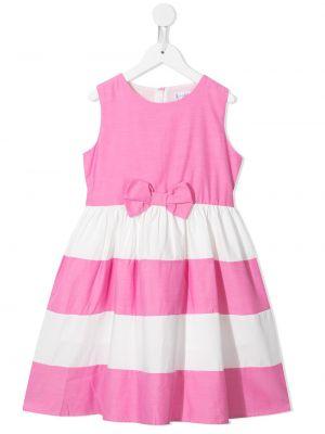 Różowa sukienka długa bawełniana bez rękawów Rachel Riley