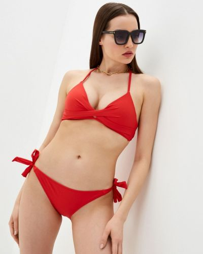 Красный купальник с воротом халтер Dag Adom
