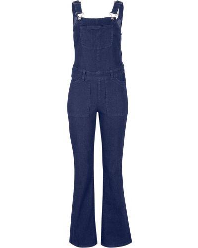 Темно-синий джинсовый комбинезон из вискозы Bonprix