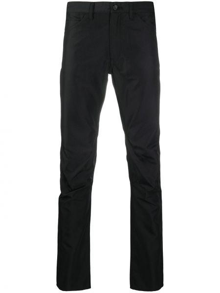 Zawężony czarny klasyczne spodnie z paskiem z falbankami Comme Des Garcons Homme Plus