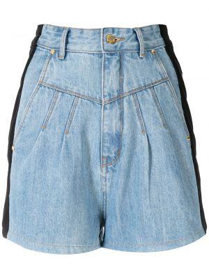 Ватные хлопковые черные джинсовые шорты Amapô