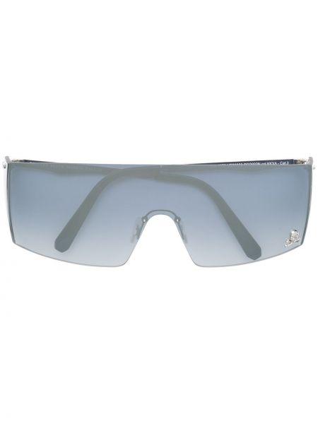 Okulary srebrne Philipp Plein