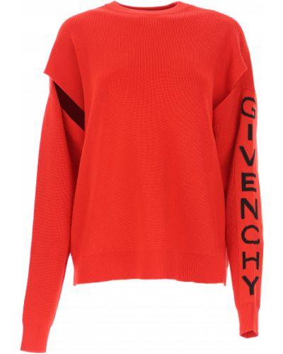 Bawełna bawełna sweter z kołnierzem okrągły Givenchy