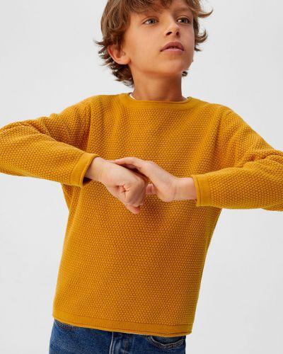Свитер желтый однотонный Mango Kids