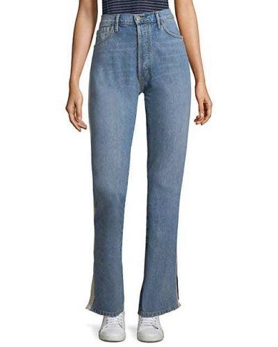 Синие джинсы с карманами в полоску Sandrine Rose