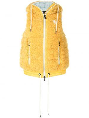 Żółta kamizelka z kapturem Moncler Grenoble