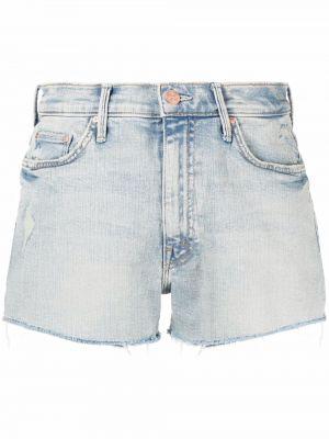 Хлопковые синие джинсовые шорты классические Mother