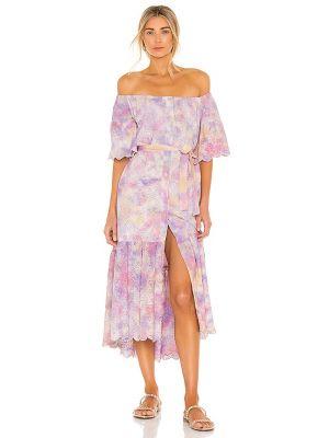 Хлопковое бежевое платье с декольте Sundress