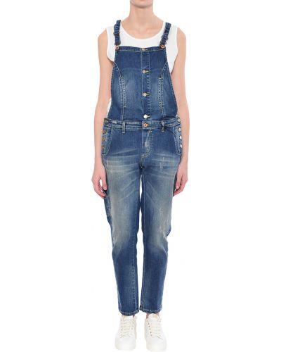 Комбинезон синий Trussardi Jeans
