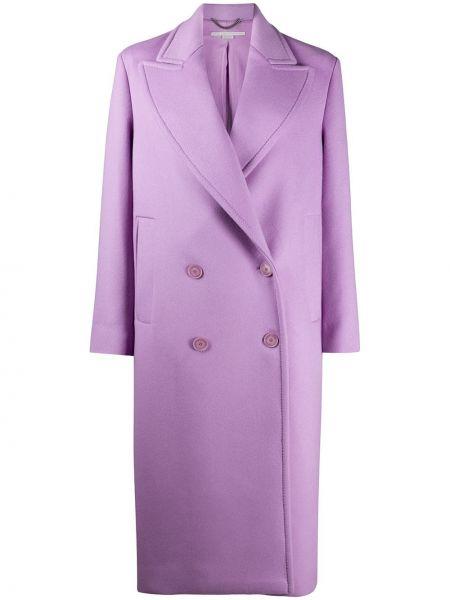 Długi płaszcz z kieszeniami wełniany Stella Mccartney