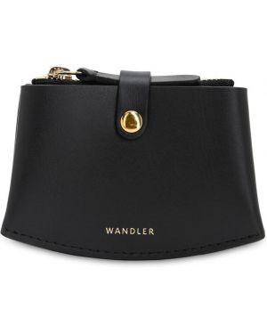 Czarny portfel skórzany Wandler