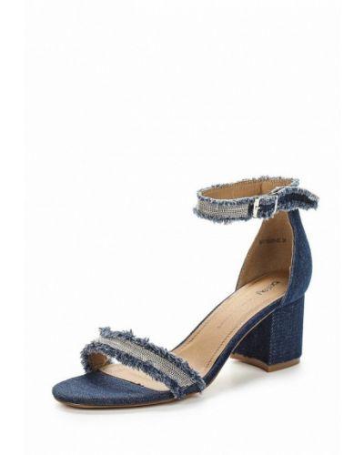 Синие босоножки на каблуке Betsy