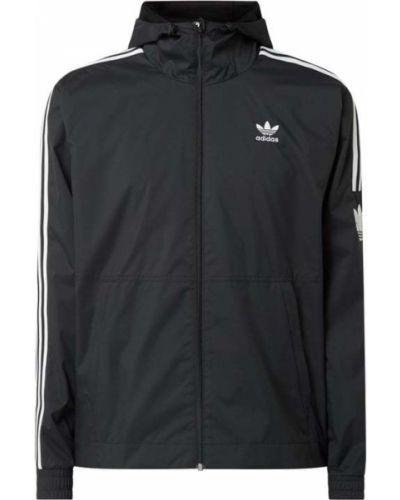 Czarna wiatrówka z kapturem Adidas Originals