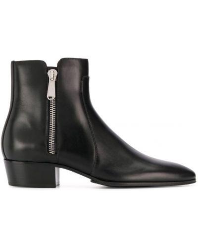 Ботильоны кожаный для обуви Balmain