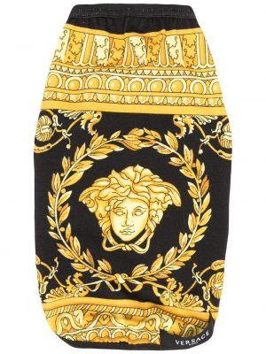 Żółta kamizelka bawełniana z printem Versace Home