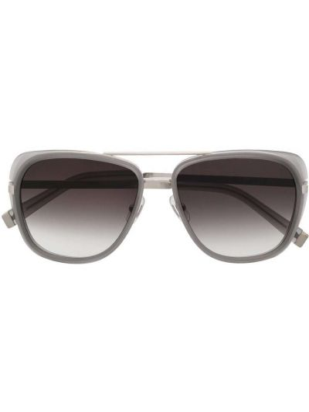 Brązowe okulary srebrne Matsuda
