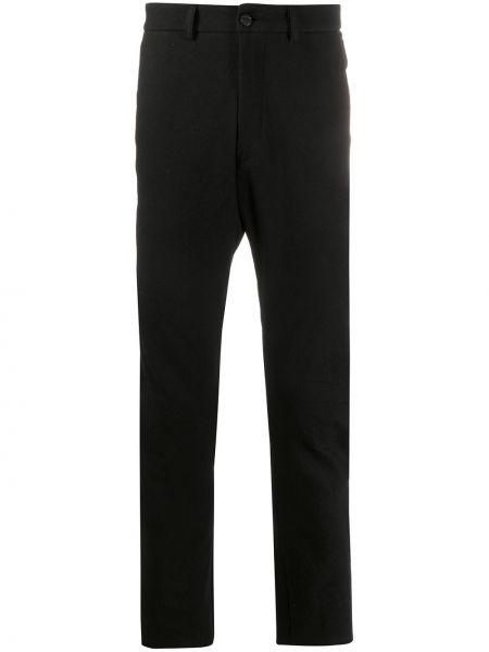 Классические черные брюки на пуговицах узкого кроя Poème Bohémien