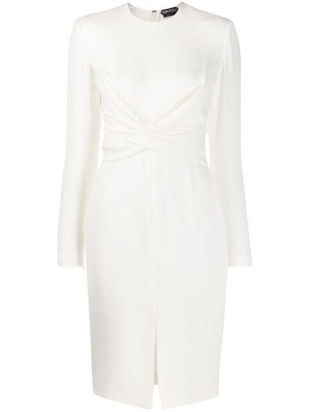 Платье миди с запахом приталенное Tom Ford