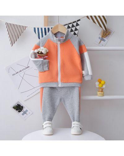 Хлопковый серый спортивный костюм Pingvik