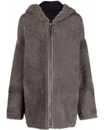 Długi płaszcz z kapturem - czarny Rick Owens