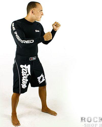 Спортивные шорты черные эластичные Fairtex