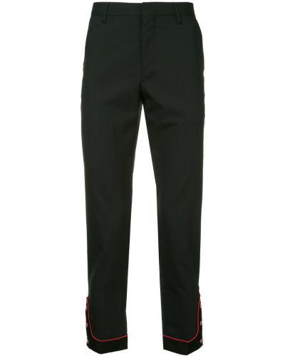 Черные прямые брюки с поясом с манжетами новогодние Johnundercover